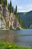 Kolsay Lake in Kazakhstan — Stock Photo
