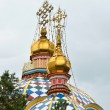 Zenkov Cathedral in the city of Almaty — Stock Photo