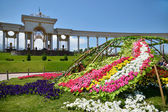 Bed of flowers in Almaty — Stock Photo