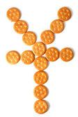 Cracker emoticon — Stock Photo