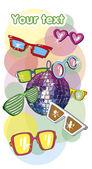 Glasses postcard — Stock Vector