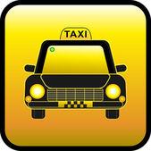Button taxi — Stock Vector