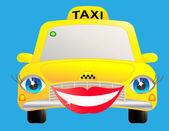 Smile taxi — Stock Vector