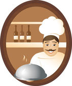 Man cook — Stock Vector