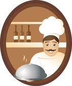 Man cook — Stock Vector