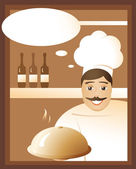 Invitation from the chef — Stock Vector