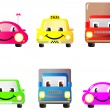 Set of funny cars - Stock Vector