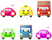 Set of funny cars — Stock Vector