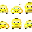 Royalty-Free Stock Vector Image: Set of cute taxi cars
