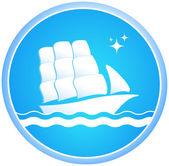 Ship and ocean — Stock Vector