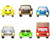 Set of cartoon cars — Stock Vector