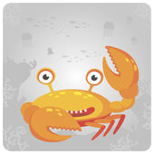 Funny crab — Stock Vector