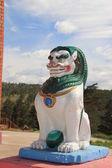 Sculpture of a lion-guard — Stock Photo