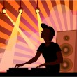 DJ in music club - Stock Vector