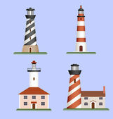 Set of lighthouses — Stock Vector