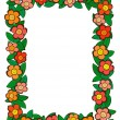 Royalty-Free Stock Vector Image: Cartoon flower pattern frame