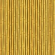 Vintage bamboo wall seamless texture background — Stock Vector