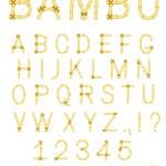 Vector bamboo stick abc alphabet — Stock Vector