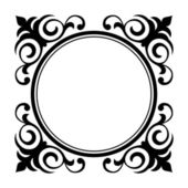 Circle ornamental decorative frame — Stock Vector