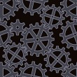 Royalty-Free Stock Vector Image: Gears seamless background pattern
