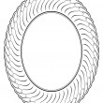 Vector oval ornamental decorative frame — Stock Vector