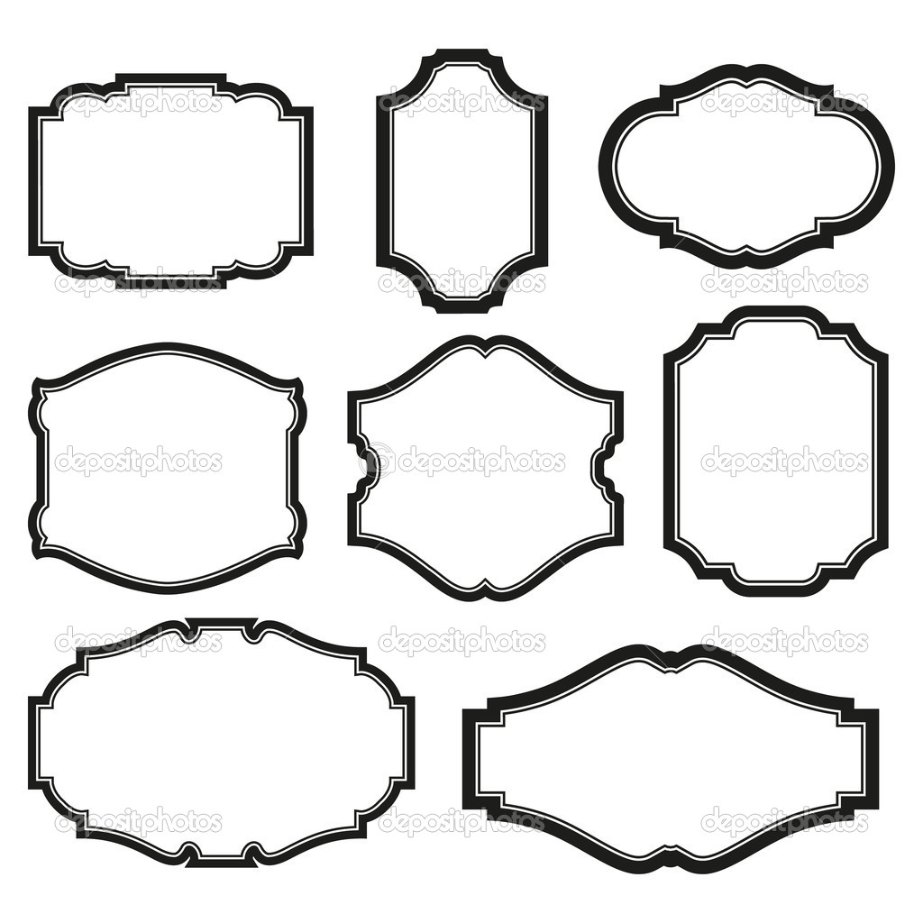 Black Frame Glasses Vector : Set of frames Stock Vector ? 100ker #6392634