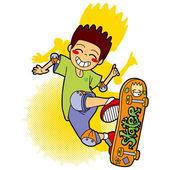 Saltos patinador — Vector de stock