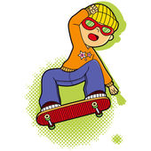 Boy Skating — Stock Vector