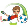 Stock Vector: Soccer Boy