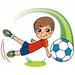 Soccer Boy — Stock Vector #5965423