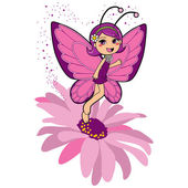 Butterfly Fairy — Stock Vector
