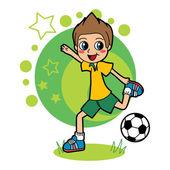 Soccer Kid — Stock Vector