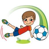 Soccer Boy — Stock Vector