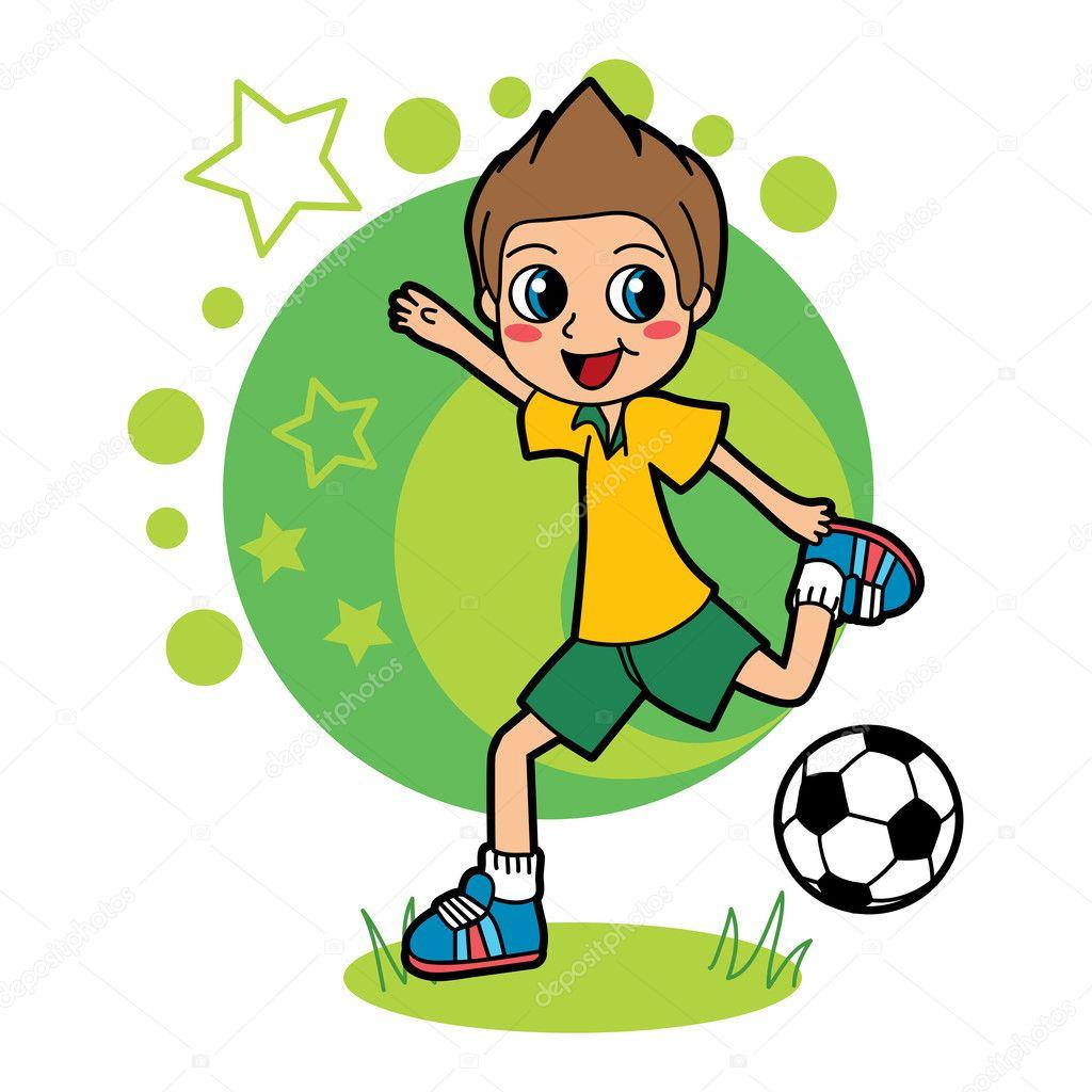 Soccer Kid - Stock Illustration
