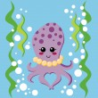Lovely Octopus — Stock Vector