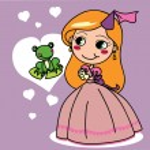 Princesa y la rana — Vector de stock
