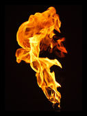 Flame over black — Stock Photo
