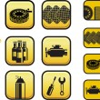 Auto Repair Shop Icons — Stock Vector