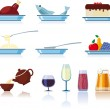 Foods & Beverages Icons — Stock Vector #5618631