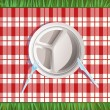 Picnic plate - Stock Vector