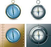Compasses — Stock Vector