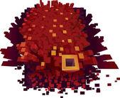 Boom pixel! — Vecteur
