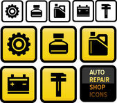 Auto Repair Shop Icons. — Stock Vector