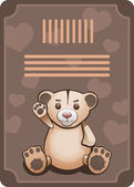 Teddy bear. — Stock Vector