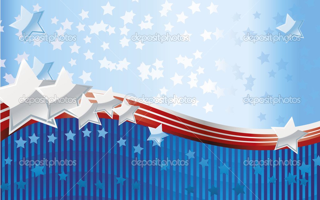 Fourth of July background — Vektorgrafik #5716369