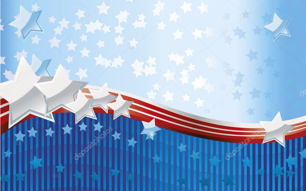 Fourth of July background — Image vectorielle #5716369