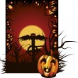 Halloween illustration. - Stock Vector