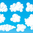 Cartoon funny clouds. - Stock Vector