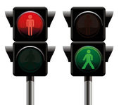 Traffic lights. — Stock Vector