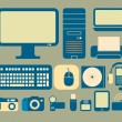 Computers and electronics icons — Stock Vector
